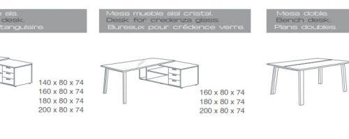 Mesa mueble ala - mesa doble extrem medidas