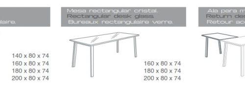 Mesa rectangular extrem medidas