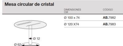 medidas mesa reunion circular ipop cristal