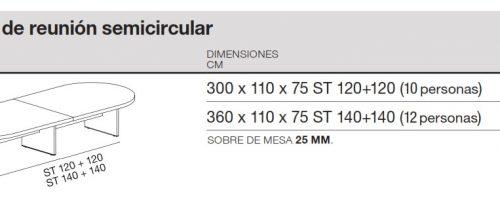 medidas reunion new pano semicircular