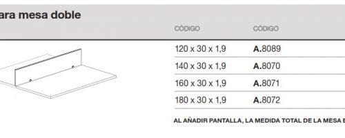 medida pantalla mesa doble ofitres