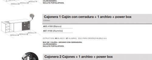 medidas credenza mueble ala modulo 1 cajones power box ofitres