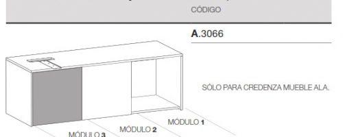 medidas credenza mueble ala puerta adicional ofitres