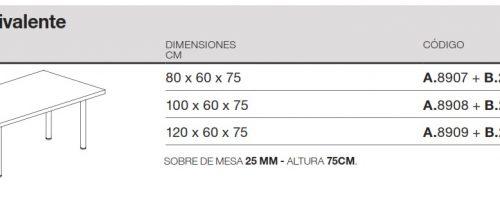 medidas mesa polivalente